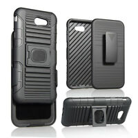 Hybrid Armor Stand Hard Cover Belt Clip Case For Samsung Galaxy J3 Emerge/Prime