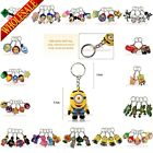 1pcs My Little Pony Avengers Mickey Princess 2D Keychains Key Rings Accessories