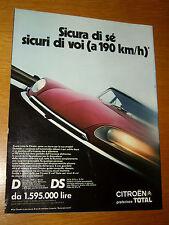CITROEN D LUSSO DS 21 20 PALLAS ANNO 1970 =PUBBLICITA=ADVERTISING=WERBUNG=1