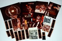 HARLEM GLOBETROTTERS Original Vintage 1970's 7pc Photo Lot for Dargis Poster