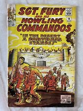 SGT. FURY AND HIS HOWLING COMMANDOS #16-UNIQUE YELLOW COVER FINE 6.0 FREE SHIP!!