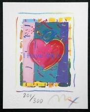 """PETER MAX-""""HEART SERIES VI""""-LIMITED ED. LITHOGRAPH SIGNED BY ARTIST-ART-PRINTS"""