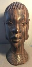 19th Century African heavy Wood Hand carved head statuette