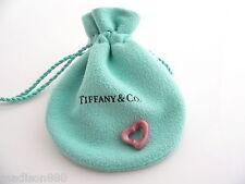 Tiffany & Co Peretti Pink Rhodonite Open Heart Charm Pendant Mint Excellent!