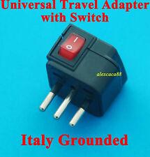AUS UK USA to Italy Grounded AC Power Plug Travel Adaptor Main Switch Universal