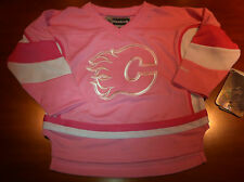 Calgary Flames NHL Hockey Pink Infant Jersey 3T Toddler Girls Little Reebok
