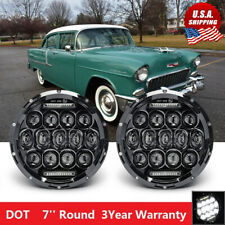 7'' Round LED Headlights for 1953-1957 Chevrolet Bel Air/150/210 Impala Camaro