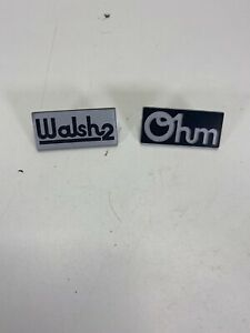Ohm Walsh 2 Speaker Name Plate Tag Parts