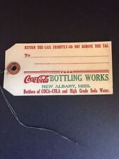 "1920's Coca-Cola, ""Un-Used"" Bottle Case Tag"