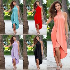 Womens Boho Maxi Dress Evening Cocktail Party Ladies Summer Beach Long Sun Dress
