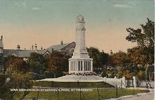 War Memorial In St. George's Park, GREAT YARMOUTH, Norfolk