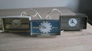 3x Metamec Space Age Alarm Clocks 1960s/70s