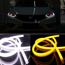 2x 60CM Switchback Car DRL LED Light Strip Sequential Turn Signal White/Amber