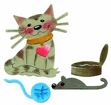Sizzix Cat & Cat Toys  large die #655025 MSRP $15.99 Cuts fabric by Emily Humble