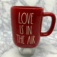 """Rae Dunn """"LOVE IS IN THE AIR"""" Artisan Collection Magenta Red 16 oz"""