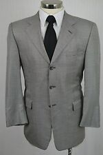 (40R) Hickey Freeman Men's Gray Houndstooth Check Silk Blazer Sport Coat Jacket