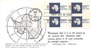 1431 8c Antarctic Treaty, Andromeda cachet in black [092121.321]