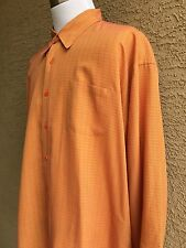 Awesome TED BAKER Men's Shirt Long Sleeve  Size 5 (XL) Peach A42