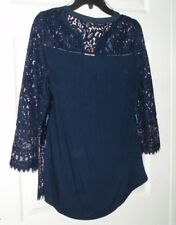 women top shirt vintage america size small 14/16 new sailor blue