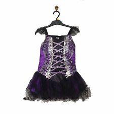 NEW 7-8 Years Halloween Costume Dress Purple & Black Girls Kids Vampire Bride