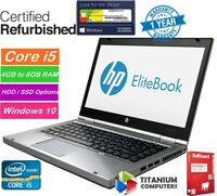 "HP Elitebook 8470p 14"" Core i5 2.6GHz UP TO 16GB Ram, 1TB HDD, SSD Windows 10"
