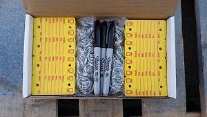 Car Dealer Key Tags, 500 Plastic Yellow Survivor (Rigidene style) Key Tags