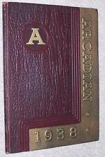 1938 Arcadia High School Yearbook Annual Arcadia Ohio OH - Arcadian