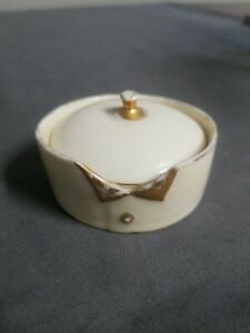 Rosenthal Selb Bavaria~Trinket box~ Gilded Shirt Collar And Button Design