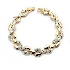 De luxe Bracelet Pour Femme 18 CARATS Plaqué or Cristal Idée cadeau 100% noel