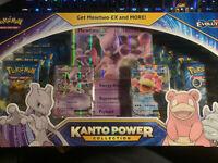 Pokemon Kanto Power Collection Box Mewtwo Slowbro Mew - 10 XY EVOLUTIONS Packs