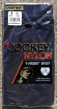 Vintage Jockey Nylon Tricot Brief Underwear Inverted Y Front Small Black NOS New