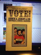 '72 Mass-Market Paperback By Abby Hoffman Jerry Rubin Vote!