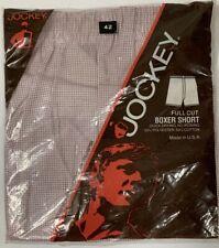 Vintage 1983 Jockey Full Cut Boxer Short Men's Size 42 Red/White USA New!