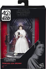 Star Wars Princess Leia – Hasbro Titanium Edition 40TH ANNIVERSARY Action Fig.