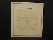 New York Tompkins County Map Enfield  Township  1866   W2#83