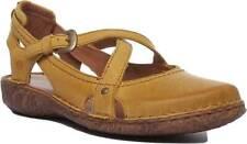 Josef Seibel Rosalie 13 Women Leather Matt Sandal In Mustard Size UK 3 -8