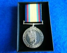 More details for gulf war full size medal & ribbon + box, reproduction