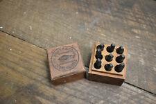 L662-  H. Boker NY Steel Figures Number Stamp Antique Tool Punch Die Set 1/4?