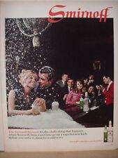 1968 Smirnoff Vodka Blizzard in Bar Fresca Vintage Print Ad 10432