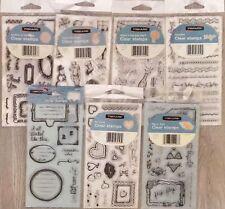 "LOT of 7 Fiskars Clear Stamps 4"" x 8"""