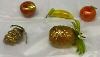 Via Graceffo Vetro Artistico Murano Hand Blown Glass Fruit 5 Pieces