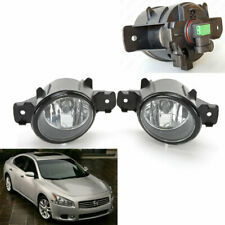 For 2009-2014 Nissan Maxima Clear Lens Front Fog Driving Light Kit with Bulbs