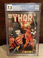 Thor #165 CGC 7.5 1st Warlock (Him). OW/White Pages On 1969 Mega Key!  GOTG 3?!