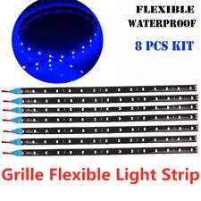 8X Bright Blue LED Strip Lights 30cm 5050 SMD Flexible Waterproof 12V Car Auto