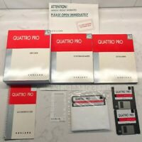 """Vintage Borland Quattro Pro 4.0 DOS Manuals and Disc 5.25"""" And 3.25"""""""