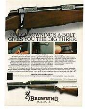 1988 BROWNING A-Bolt Rifle VTG PRINT AD