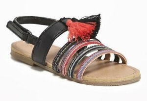 60% OFF! OLD NAVY ANKLE-STRAP TASSELED SANDALS SHOES 5/12-18 mos BNEW US$19.99