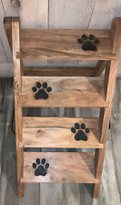 4 Step Wooden Stairs Dog Cat Pet Ladder Foldable Removable