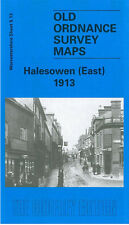 OLD ORDNANCE SURVEY MAP HALESOWEN EAST 1913