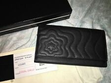 MONTBLANC Black Onyx Leather Starisma Alcina Wallet 6cc Long Clutch 102582 Italy